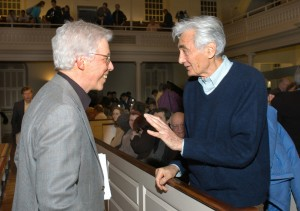 With Howard Zinn at the book launch in Bostons Old South Meeting House, March 2006.